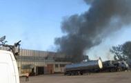 Под Киевом загорелись склады, есть пострадавшие