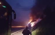 В Хорватии на трассе загорелся польский автобус с 46 паломниками