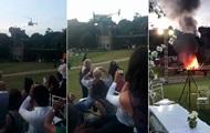 Вертолет с невестой упал на свадьбе в Бразилии