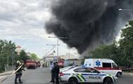 В Праге на складе произошел масштабный пожар