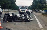 На Закарпатье Mercedes сбил байкеров, есть пострадавшие