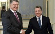 Порошенко обсудил с Волкером ситуацию на Донбассе