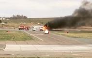 В РФ при взлете загорелся истребитель МиГ-31