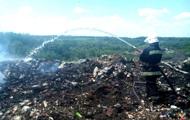В Полтавской области четвертые сутки горит свалка