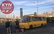 В Киеве маршрутка насмерть сбила пешехода