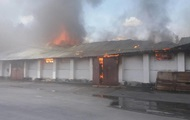 В Жмеринке горит элеватор