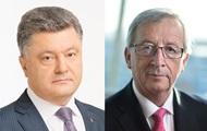 Порошенко и Юнкер обсудили подготовку к саммиту Украина-ЕС