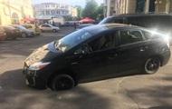 В центре Одессы провалилась машина