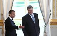 Порошенко обсудил с Макроном ситуацию на Донбассе