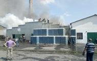 В Ровенской области горел стеклозавод