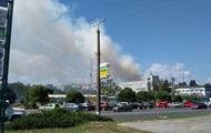 Под Киевом горит жилой дом