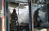 В центре Славянска горел рынок, есть пострадавшие