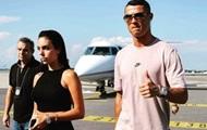 Роналду привез семью на стадион Ювентуса