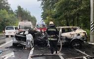 Появилось видео смертельного ДТП под Киевом