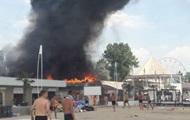 В торговых рядах Коблево произошел масштабный пожар