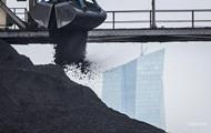 Запасы угля в Украине ниже прошлогодних на 20%