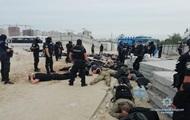 На стройке в Киеве задержали 40 человек с оружием