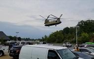В США военный вертолет экстренно приземлился на парковке бара