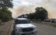 На Донбассе горят минные поля, не работают КПП