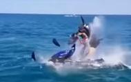 Взрыв гидроцикла с туристами попал на видео