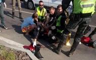 В Киеве в ДТП мотоциклисту оторвало ногу
