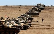 Турция перебросила танки к границе с Сирией