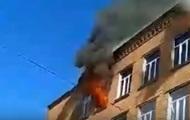 В Хмельницком горит школа: детей эвакуировали