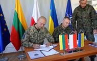 Украинский офицер принял под командование ЛитПолУкрбриг