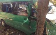 В Кривом Роге маршрутка с пассажирами врезалась в дерево