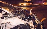В Киеве полицейский автомобиль попал в аварию