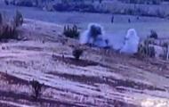 Появилось видео прямого попадания по позиции сепаратистов