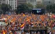 В Барселоне провели марш за единство с Испанией