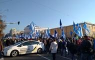В Киеве проходит массовый протест профсоюзов