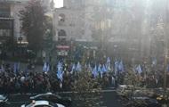 В центре Киева образовались пробки из-за митинга