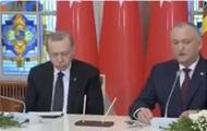 Эрдоган уснул во время речи президента Молдовы