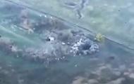 В сети показали уничтожение позиций сепаратистов с воздуха