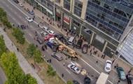 ДТП с краном в Киеве: появилось видео столкновения