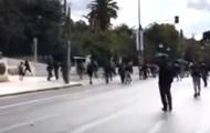 В Афинах произошли столкновения студентов с полицией