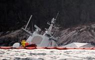Норвежский фрегат ушел под воду после столкновения с танкером