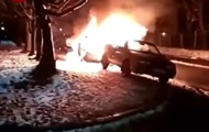 В Киеве случайный прохожий спас от пожара чужое авто