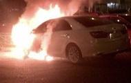 В Ужгороде горело авто экс-начальника отделения ГАИ - СМИ