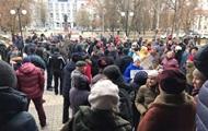 Херсонцы митингуют из-за повышения цен на проезд