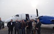 Из аэропорта Николаев вылетел первый за пять лет самолет