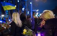 Годовщина революции: на Майдане проходит вече
