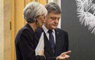 Порошенко сегодня проведет переговоры с Лагард