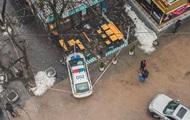 В Киеве авто полиции сбило пешехода на тротуаре
