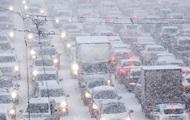 Непогода в Киеве: транспорт ходит без графика