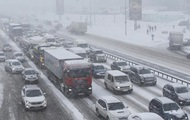 Киев остановился в пробках и тянучках