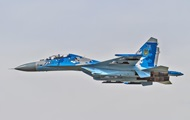 В Украине разбился истребитель Су-27