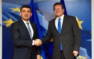 Гройсман и Шефчович обсудили газовые переговоры